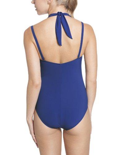 Rosa Faia Damen Schalen Einteiler Badeanzug Coco Suit Blau (bleu royal)