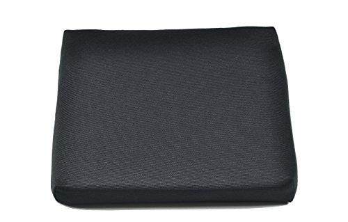 Naturholzmöbel Seidel 2X Sitzkissen Stuhlkissen Bankkissen Stuhlpolster 35x35cm Bezug mit Reissverschluss, Stoff Panama, Waschbar Bei 30° für Stühle und Hocker (2X Schwarz)