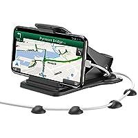 MATONE Soporte Móvil Coche, Soporte Teléfono y GPS para Ahorrar Espacio con 5 Clips para