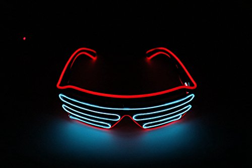 df97e290a3 Upolymall LED Neon Glasses Ghost Dance EL Flash Glasses, Halloween  Christmas Wild Party, Holiday