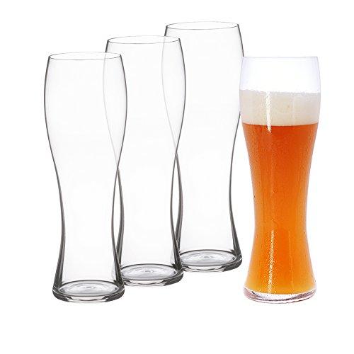 Spiegelau & Nachtmann, 4-teiliges Hefeweizenglas-Set, Kristallglas, 4991975, Beer Classics
