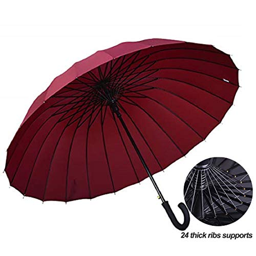Lissomplume caña viaje compacto paraguas 24varillas