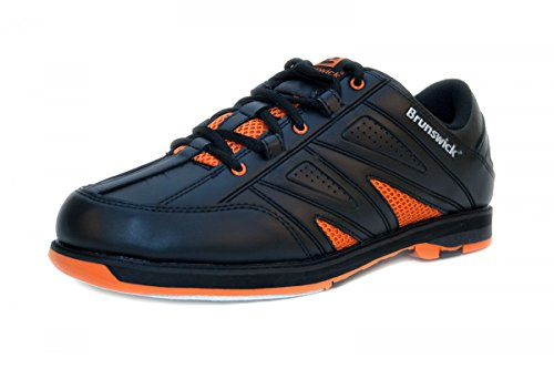 Brunswick Warrior Bowlingschuhe Herren in Schwarz Orange
