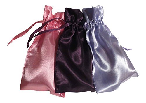 Tarot Bags: Wisdom and Insight Colors Satin Bundle of 3: Purple Lavender and Rose (5 X 8 Each) - 5 X 8 Rose