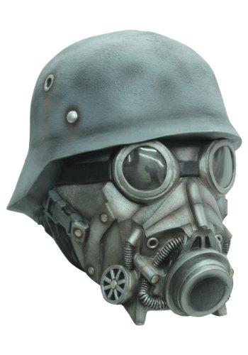 Soldat mit Gasmaske - Maske für Erwachsene (Gasmaske Soldat Kostüm)