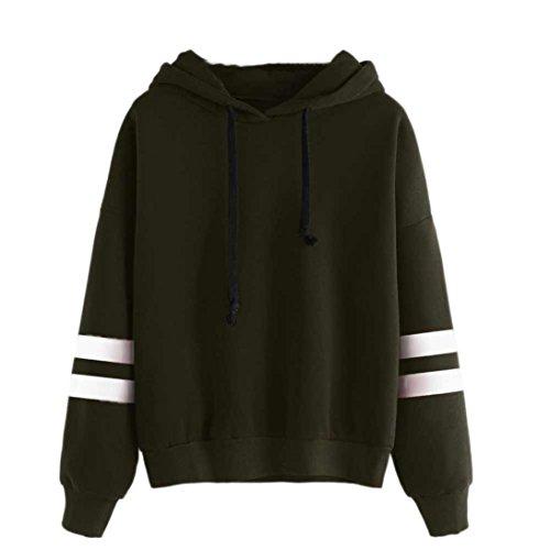 Damen Hoodie Sweatshirt,Dasongff Frauen Kapuzenpullover Langarm Kapuzenpullis Sweatshirt Pullover Tops Bluse (XL, Armee grün)