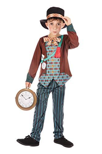 Schule Kostüm Jungen - Bristol Novelty CF192 Hutmacher Kostüm, Jungen Mehrfarbig 8-10 Jahre