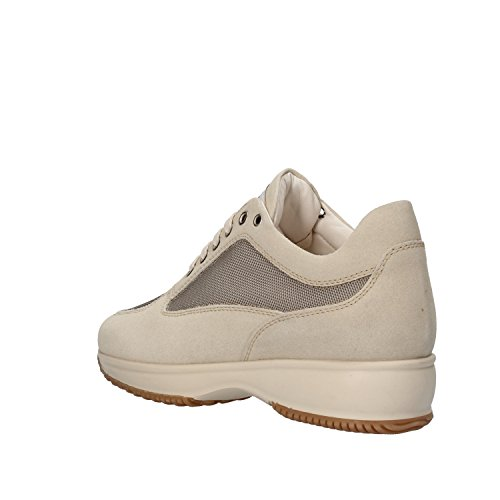 SABEN SHOES sneakers beige gris blanc crème daim textile Beige / gris