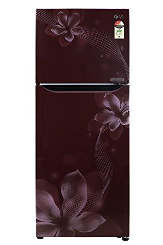 LG 260 L 3 Star Frost-Free Double-Door Refrigerator (GL-C292SSOU, Scarlet...