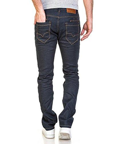BLZ jeans - Jeans homme brut droit contrasté Bleu
