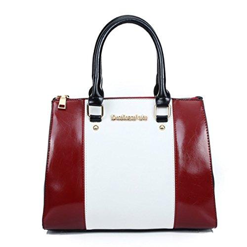 Damen-Mode-Hit-Farbe Kleine Quadratische Tasche Wild Diagonal Paket Handtasche Umhängetasche D