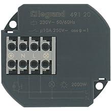 Legrand LEG93005 Télérupteur 1p pour allumage/extinction éclairage par poussoir 230 V 10 A