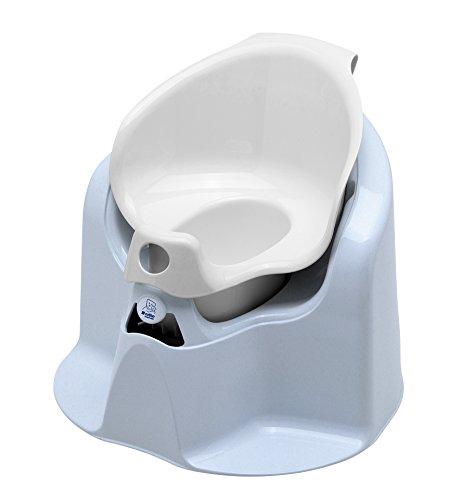 Rotho bebé Diseño 20504023801 Top Xtra confort al baño, bebé bleu perl / blanco