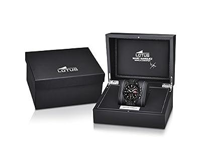 Lotus 18104/1 - Reloj de pulsera hombre, Caucho, color Negro de Lotus
