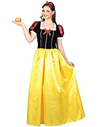Ladies' Snow Princess Fairytale Fancy Dress Costume Snow White Adult Outfit