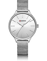 treeweto para mujer analógico relojes cuarzo relojes de pulsera Business  Casual reloj único vestido reloj Números da743df65aee