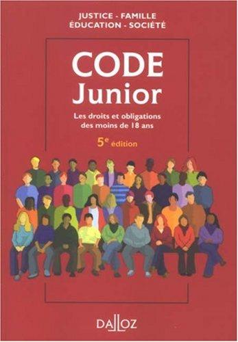 Code junior par Dominique Chagnollaud