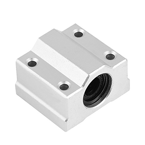 Richer-R 3D Drucker Kugellager, 2pcs Set SCS8UU 8mm Linearbewegung Kugellager,Aluminiuml 3D Drucker Zubehör Kugel-Lagerblock (Kugellager-set Keramik)