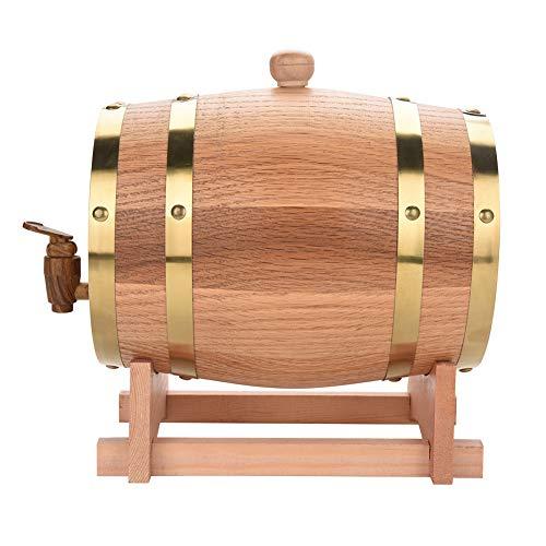 Faß Wein Eichenfass - Vintage Holz Eichenholz Weinfass für Bier Whisky Rum Port, Eichenfässern (Größe : 3L)