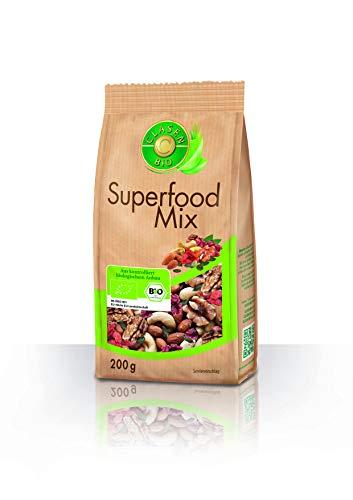 Clasen Bio Superfood Mix - 200g, Nuss-Frucht-Mischung, von Natur aus vegan und glutenfrei, biologischer Anbau