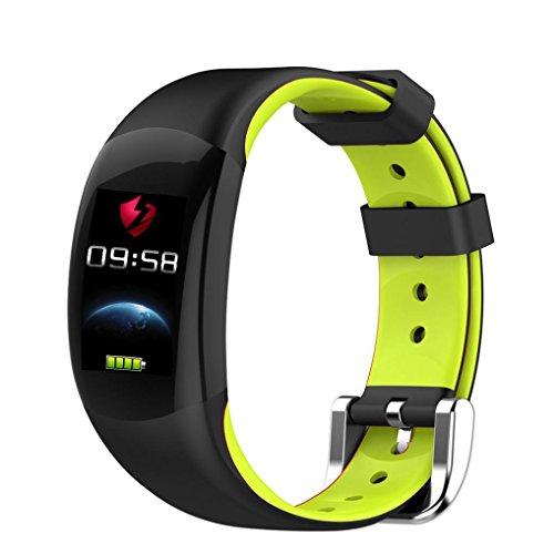 feiXIANG Sport Fitness Tracker - Bluetooth Smart Watch - Impermeabile ! Braccialetto intelligente Vibrazione Bluetooth Fitness Rate per Xiaomi Orologi Orologio Android Wear per uomo donna (Verde)