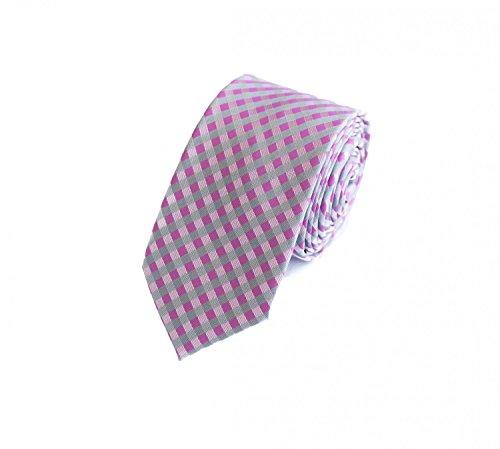 Fabio Farini moderne, gestreifte 6 cm Krawatte, für jeden Anlass mit weißen und blauen Streifen