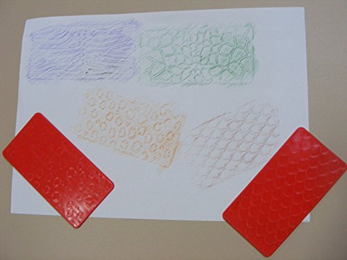 2-animal-print-texture-rubbing-plates-double-sided-embossing-stencils-11cm-x-6cm