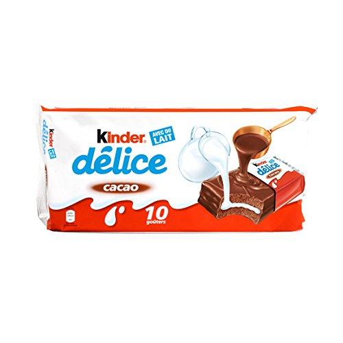 kinder Petit gâteau enrobe au cacao et fourré au lait - ( Prix Unitaire ) - Envoi Rapide Et Soignée