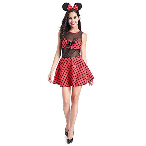 hsene Mickey Kleid Mickey Mouse Prinzessin Kleid Bar Ds BüHne KostüM Halloween Cosplay Anzug ()