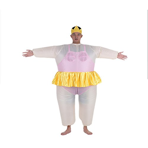Anself Aufblasbares Kostüm Ballerina Cosplay für Fasching (Kostüm Aufblasbares Ballerina)