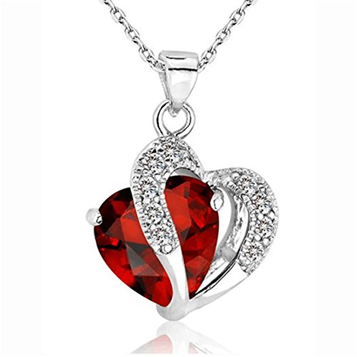 mode-collier-femme-reaso-coeur-crystal-silver-strass-pendentif-chaine-de-bijoux-rouge