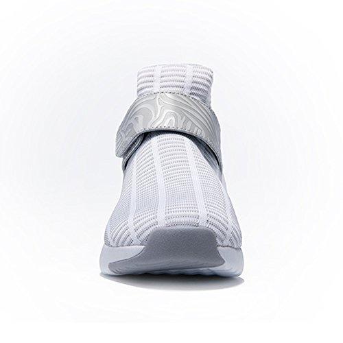 ONEMIX Air Scarpe da Ginnastica Corsa Basse Uomo donna Sportive Running Sneaker White Grey