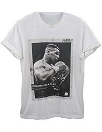 Actual Fact Micro Tyson Todo el mundo Tiene Un Liso Vintage Hip Hop camiseta blanca