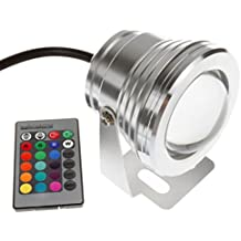 Green House Foco de luz LED RGB regulable, resistente al agua IP65, incluye mando a distancia