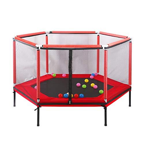 Kinder Trampoline Outdoor Boden Bungee Sport Rotes 62-Zoll-Junior-Kindertrampolin mit Sicherheitsnetz und Indoor-Home-Spring-Trampolin für Outdoor-Aktivitäten