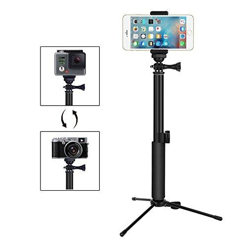 GHB Foneso Selfies Stick con Bluetooth inalámbrico disparador remoto trípode...