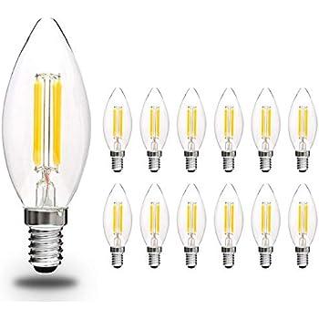 Lampada lampadina tortiglione led tuttovetro luce calda 2 for Lampadine a led e14
