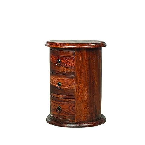 Maharajah Indian Rosewood 3 Drawer Drum Chest
