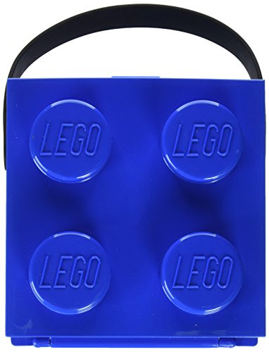 Lunch Box W. Handle (4 Knob) - Classic, Bright Blue