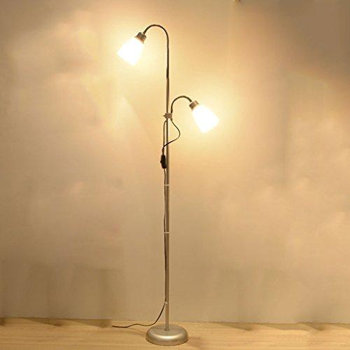 LEGELY Mode 2 source lumineuse lampadaire en métal, salon table basse simple et moderne chambre protection des yeux lampe verticale, creative study room piano lampe d'éclairage, 8.66''Wx 51.18''H