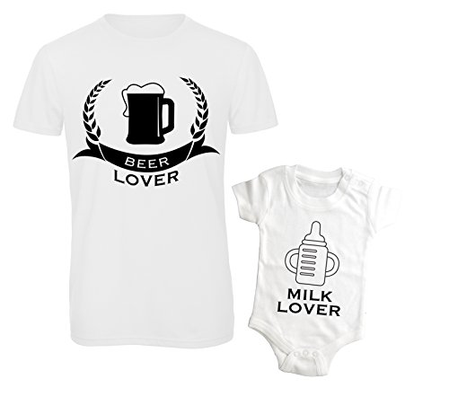 T-shirt e body beer & milk lover