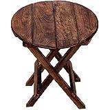 Martemporium Handicraft Wooden Beautiful Design Folding Stand for Living Room (Brown, 37 X43 cm)