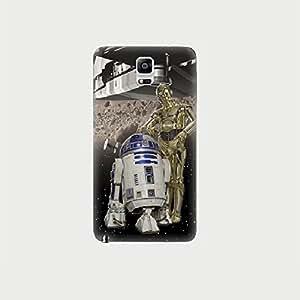 Coque Samsung Galaxy Note 4 Star Wars C3PO et R2D2