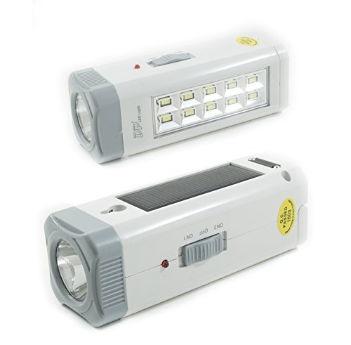 Takestop® lampada torcia 7108 emergenza led ricaricabile portatile pannello energia solare