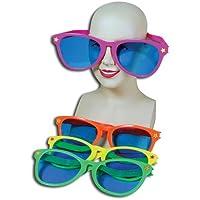 Sun Specs Jumbo Glasses Accessory for Tropical Hawaiian Beach Fancy Dress Glasses