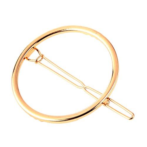 European Style Einfache Geometrie Metallhaarnadeln Haarclips Runde Gold