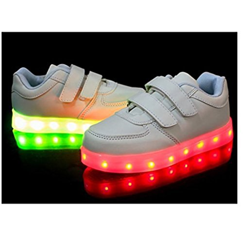 Jungen kleines Leuchtet Mdchen Sneakers present Athletische Sportschuhe Led Bunte Weiß junglest® Handtuch Kinder dgwx1SIqZ