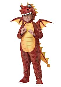 Déguisement de dragon rouge pour garçon 3-4 ans