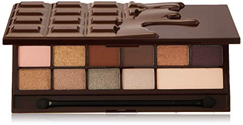 Makeup Revolution I Heart Makeup Lidschatten Palette - Wonder Palette - Death By Chocolate, 22 g - Die Augen Dunkle Schokolade