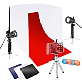 Neewer 16x16 Inches Tabletop Photo Studio Lightbox Light Tent Lighting Kit With LED Light, Color Backdrops, Gel Filters, Tripod Stand With Cellphone Clip For IPhone 7 6 6S Samsung Galaxy S8 S7 Etc
